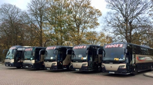 5 of our luxury vehicles parked at Windsor coach park