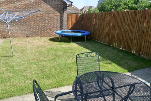 Back garden of 3 bedroom detached house