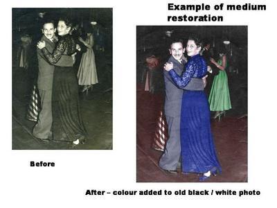 tinting of old black / white photo