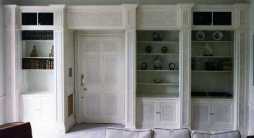 """A new bookcase in a """"period"""" house remodelling in Odiham"""