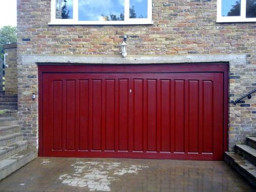 GRP woodgrain red mahogany