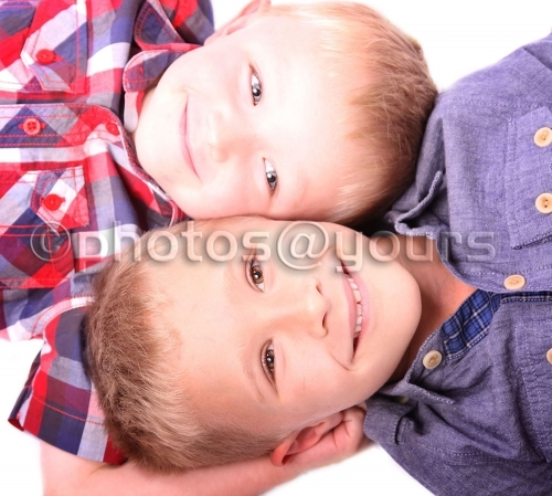 modern style portrait of 2 brothers
