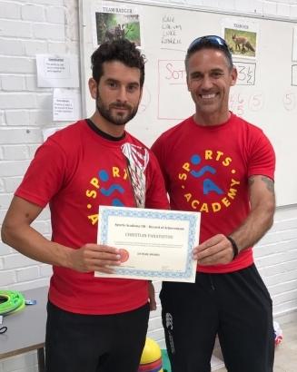 10 Yr coaching award at Sports Academy