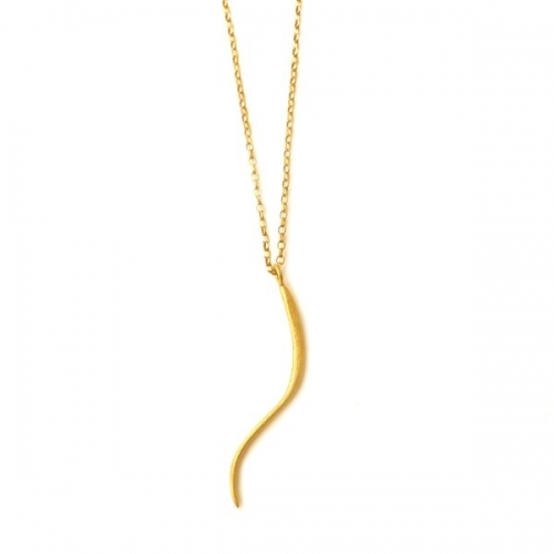 Single Gold Curve Pendant by De Anna Kiernan
