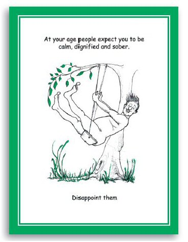Spring Chicken Greeting cards for ladies & gents of a certain age!
