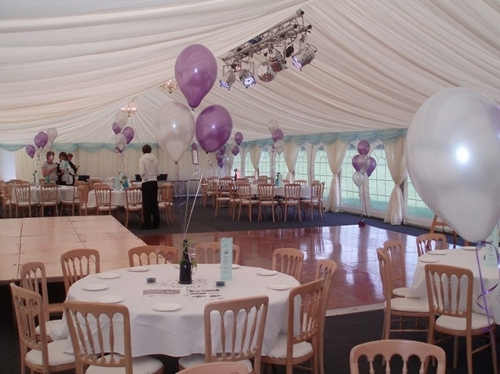 Party marquee in Hampshire