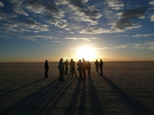 Sunset On The Uyuni Salt Flats, Bolivia