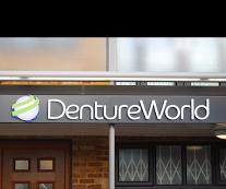 Denture World sign