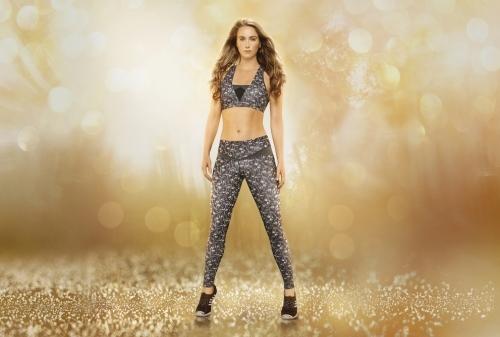 Black diamond luxe bra and leggings
