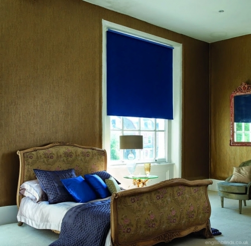Blue Blackout Bedroom Roller Blinds