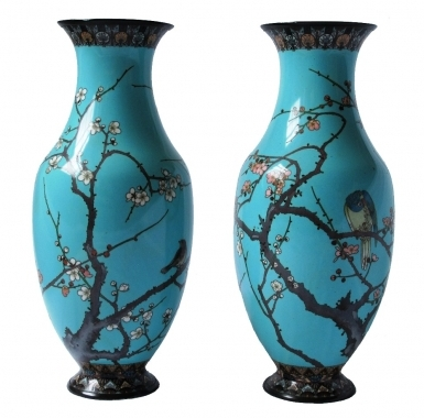 Cloisonne Vases, Early 20th Century.