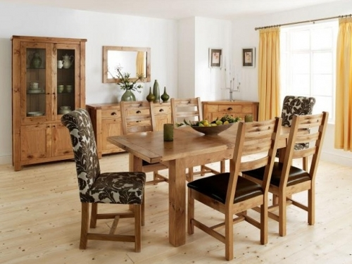Normandy Rustic French Oak Dining and Living Room Furniture