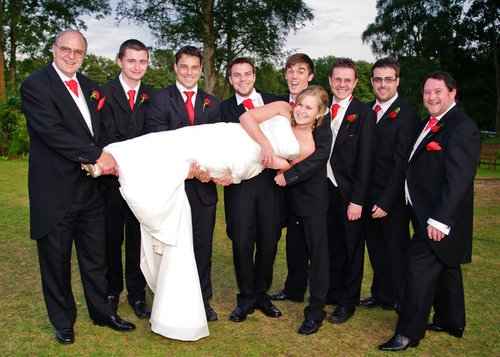 Bridal party shots that offer a little more than standard