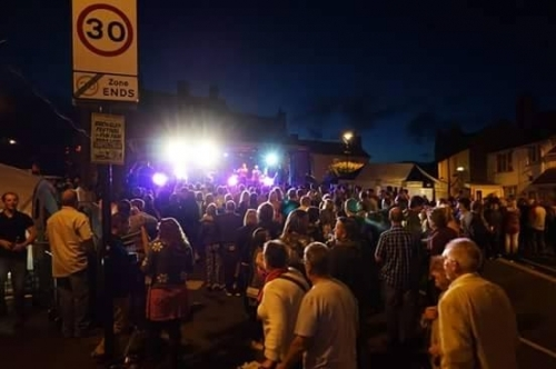 Crowd Of Broseley Fest Up Half Of Street