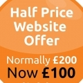Half Price Web Design Offer