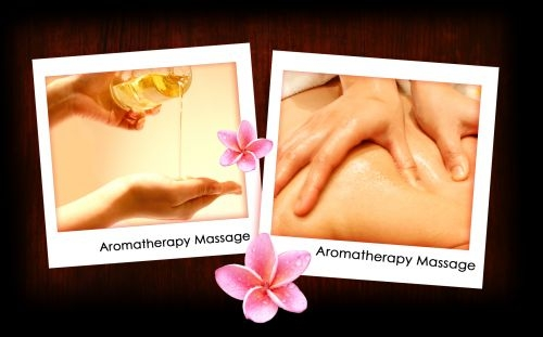 Aromatic Oil and acupressure massage