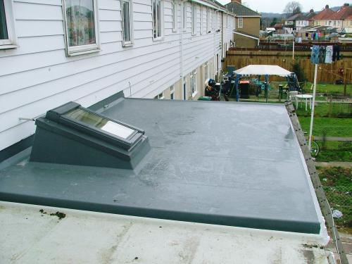 Dark grey flat roof