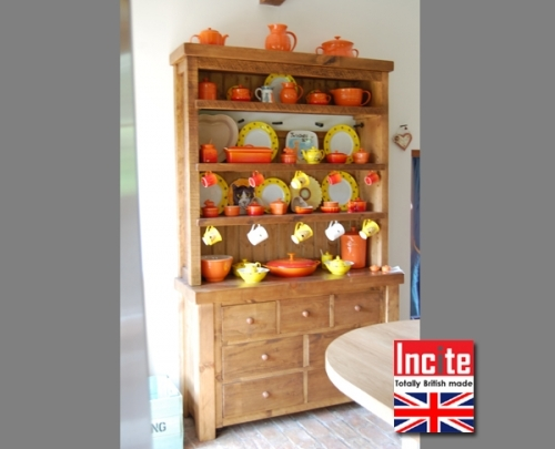 Rustic Country Kitchen dresser handmade to order by Incite Interiors in Draycott Derbyshire