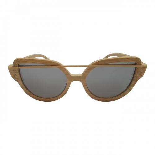 Le' Brox Handmade Bamboo Cat Eye Sunglasses Women Polarized UV ECO Rare N12-3
