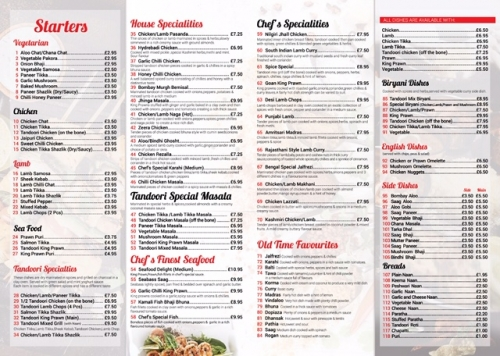 Indian Restaurant & Takeaway, Bangladeshi Restaurant & Takeaway.