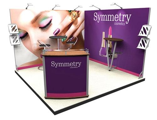 3m Square Corner Exhibition Stand