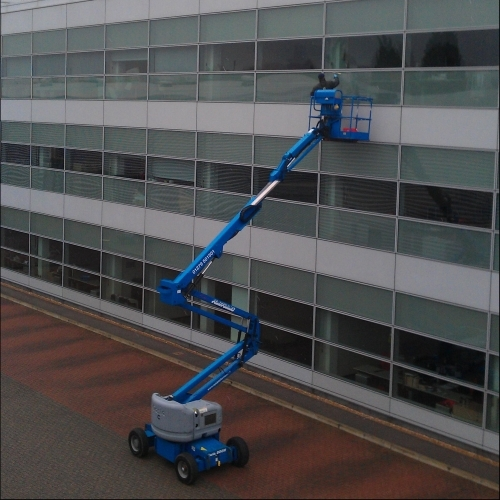 Window Cleaning at Height Using a Mobile Elevated Work Platform (MEWP)
