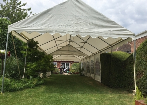 4m wide extended roof only marquees