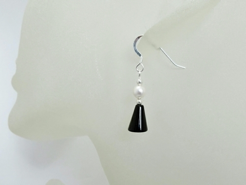 Elegant Black White Earrings