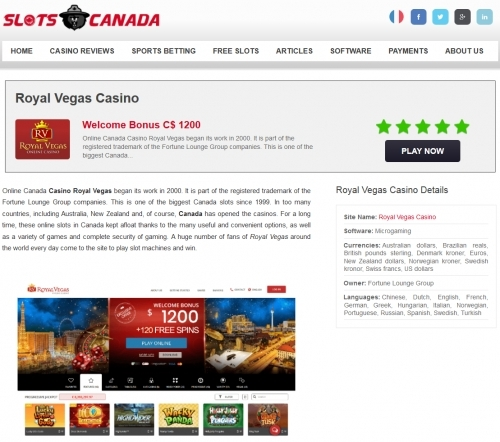 Slots Online Canada - Best Reviews Online Casinos in Canada