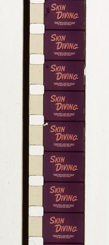 Standard 8 mm cine film, note larger sprocket holes & smaller image area
