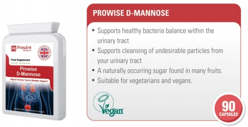 Prowise D-mannose 90 Capsules 500mg UK Made