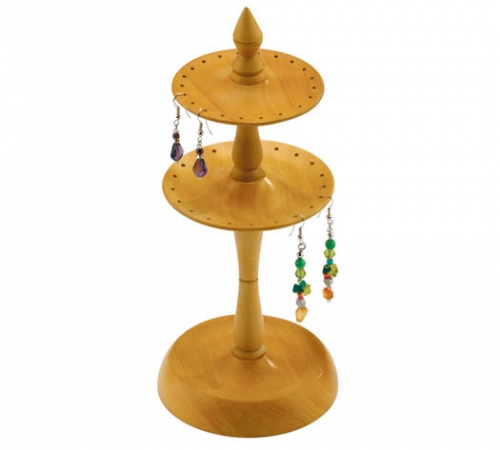Wooden Earring Stand / Holder