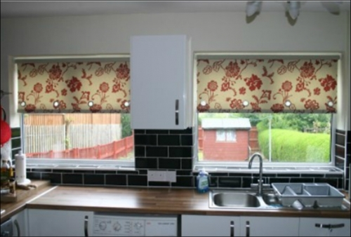 Patterned Roller Blinds with Eyelets
