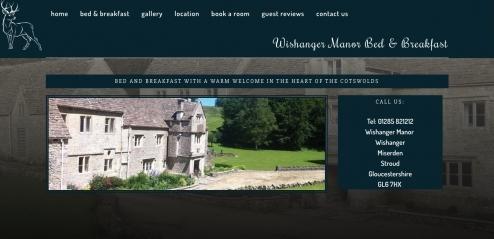 Wishanger Manor Bed and Breakfast (www.wishanger-manor.co.uk) - B&B Website Design