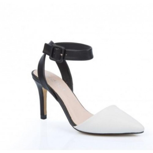 Monochrome Wrap Ankle Court Shoes