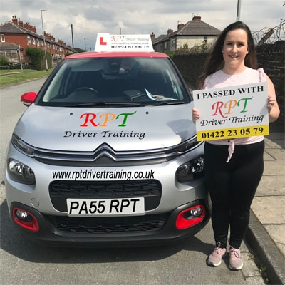 RPT Driver Training Driving Lessons Halifax Lauren Geraghty