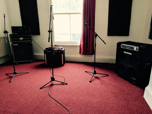 Rehearsal room microphones and speakers
