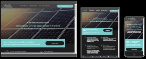 Bluebuild Renewables Website Design