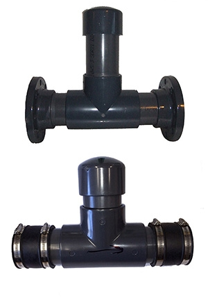 Inline Screened Overflows with Optional Flanges or Rubber Seals on Ends