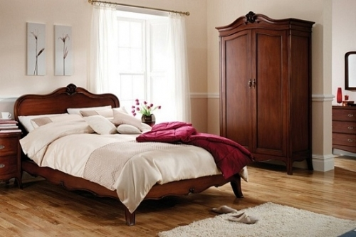 Louis French Solid Mahogany Bedroom Furniture