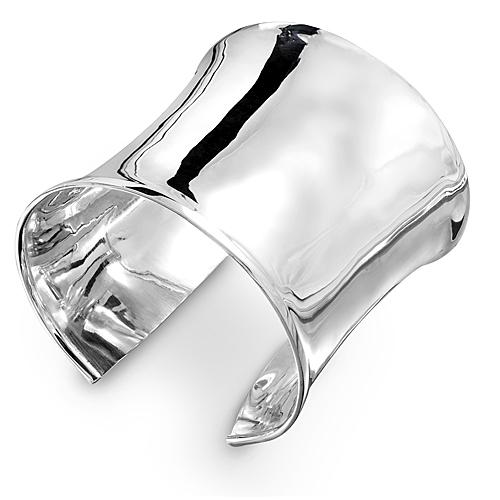 Sterling Silver Wide Cuff Bangle