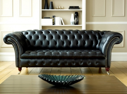 Black Chesterfield Sofa - Balston
