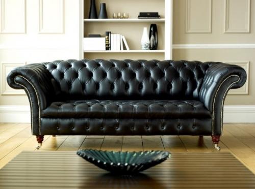 Black Chesterfield Sofa - Balston