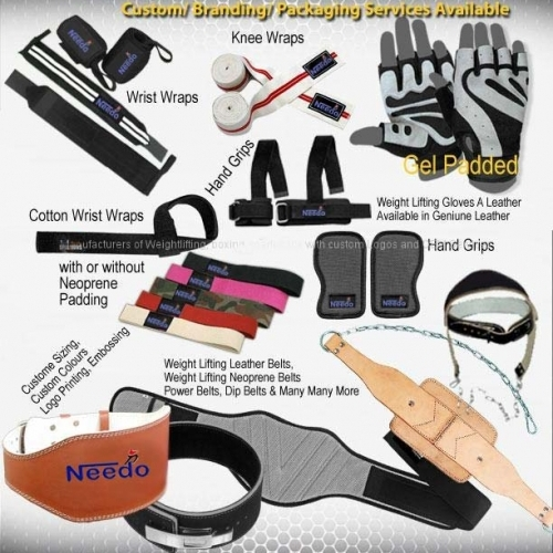 Weightlifting Accessories, Needo Industries Pvt. Ltd.Manufacturer, Exporter & Supplier of Fitness Accessories, Rugby Gear, Accessories, Athletic Wear, Belts, Gloves, Gloves, Protective Gear, Training Equipment, Miscellaneous, Ear Guards, General Accessori