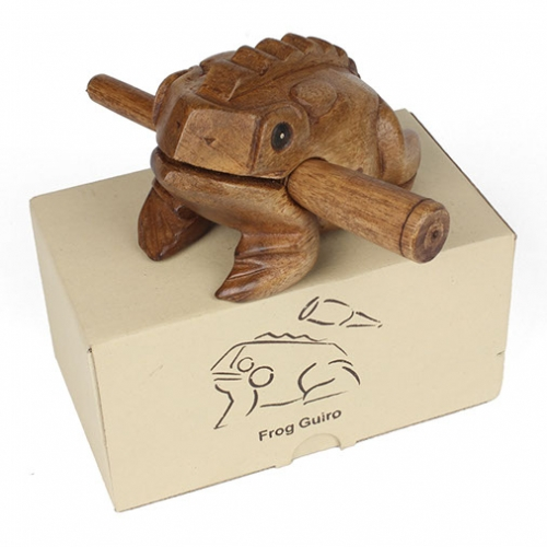 Croaking Frog Wooden Carving from Thailand
