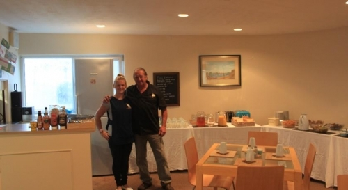 The lovely staff and dinning room area.