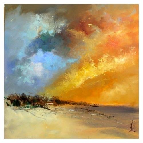 """Farrell Doyle """"Sun Blaze 76x76 Oil On Canvas £1,500"""