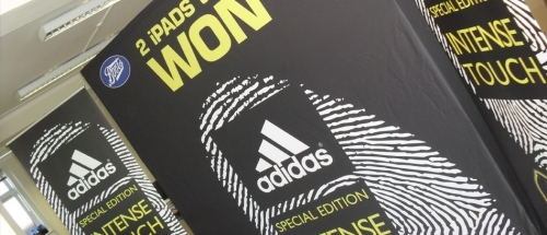 Adidas Promotional units for Boots Stores UK