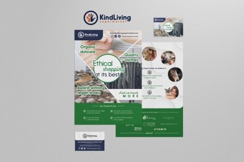 KindLiving Supermarket Vegan and Ethical Brand Identity Design