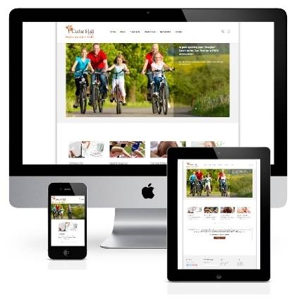 Responsive, mobile friendly website design and build for Cedar Hall Clinics